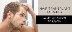 Transplant hair